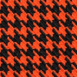 Orange and Black Houndstooth